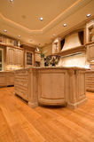 Luxury Kitchen. Ornate kitchen and dining area in luxurious new home royalty free stock photos