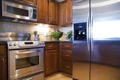 Luxury Kitchen. With modern appliances Royalty Free Stock Image