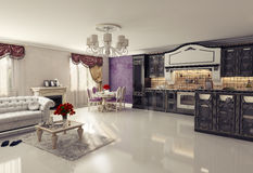 Luxury kitchen Royalty Free Stock Photography