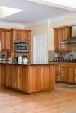 Luxury Kitchen. Home Interior, Luxury Kitchen With Hardwood Flooring stock photography