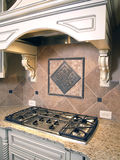 Luxury Kitchen Cooktop with Hood 2 Stock Photos
