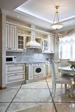 Luxury kitchen interior Stock Photography