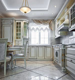Luxury kitchen interior Stock Photo