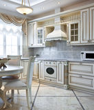 Luxury kitchen interior Royalty Free Stock Photos