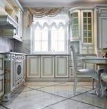 Luxury kitchen interior Royalty Free Stock Photos