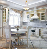 Luxury kitchen interior Stock Image