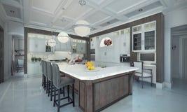 Luxury kitchen interior. vector illustration