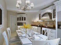Luxury kitchen interior Stock Photography