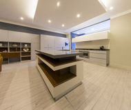 Luxury kitchen interior Stock Photos