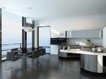 Luxury kitchen interior with modern furniture. Image of Luxury kitchen interior with modern furniture Stock Image