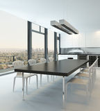 Luxury kitchen interior in pure white color Stock Image