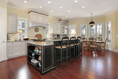 Luxury kitchen with island Stock Photo