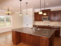 Luxury Kitchen with Island 2 Royalty Free Stock Photos