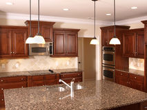 Luxury Kitchen with Island  3 Stock Photos