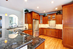 Luxury kitchen room Royalty Free Stock Images