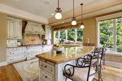 Luxury kitchen room Royalty Free Stock Photo