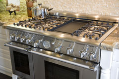 Luxury kitchen stove Royalty Free Stock Photo