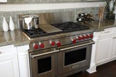 Luxury kitchen stove royalty free stock photography