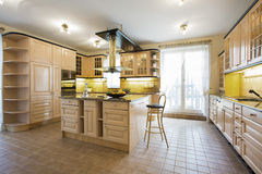 Luxury kitchen in traditional design Royalty Free Stock Image
