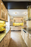 Luxury kitchen in traditional design Royalty Free Stock Photography