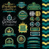 Luxury label set. And black background Royalty Free Stock Image