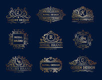 Luxury Labels Design Set Stock Photography