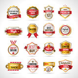 Luxury Labels Gold And Red Stock Photography