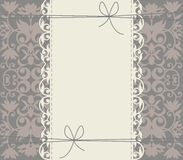Luxury lace frame with floral ornament Royalty Free Stock Photography