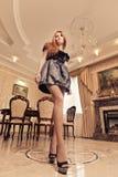 Luxury lady in luxury interior Royalty Free Stock Photos