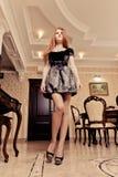 Luxury lady in luxury interior Stock Photos