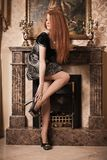 Luxury lady in luxury interior Stock Photo