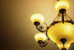 Luxury lamp. Elegant luxury lamp on warm light background stock photos