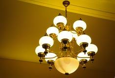 Luxury lamp. Elegant luxury lamp on warm light background Royalty Free Stock Image