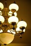 Luxury lamp. Elegant luxury lamp on warm light background Royalty Free Stock Photo