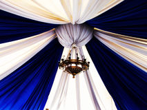 Luxury lamp with blue-white canopy Stock Image