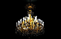 Luxury lamp with candles Royalty Free Stock Image