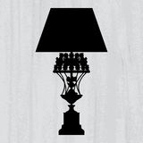 Luxury lamp on a scratched grey wallpaper Stock Photos