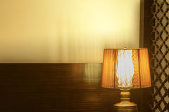 Luxury lamp on table Stock Photography