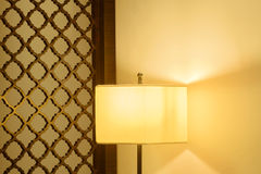 Luxury lamp on table Royalty Free Stock Photography
