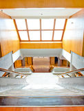 Luxury large staircase. With skylight Stock Photo
