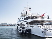 Luxury and large yacht Royalty Free Stock Photos