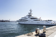 Luxury and large yacht Royalty Free Stock Photo