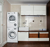 Luxury laundry room interior Royalty Free Stock Photo