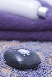 Luxury with lavender bath salts Stock Photography