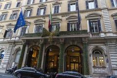 Luxury Le Grand旅馆在罗马,意大利 库存照片