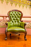Luxury leather armchair. Luxury green leather arm chair royalty free stock images