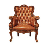 Luxury leather armchair Stock Images