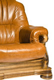 Luxury leather armchair isolated Royalty Free Stock Image