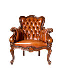 Luxury leather armchair on white background Royalty Free Stock Photography