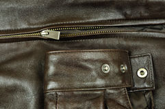 Luxury leather jacket closeup Royalty Free Stock Photos